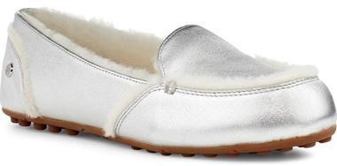 UGG metallic slipper | 40plusstyle.com