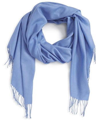 Nordstrom wool & cashmere scarf | 40plusstyle.com