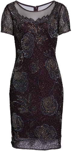 Pisarro Nights beaded mesh dress | 40pusstyle.com