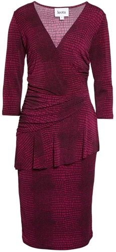 Leota faux wrap dress | 40plusstyle.com