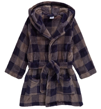 Christmas gift ideas for kids: Tucker + Tate hooded plush robe | 40plusstyle.com