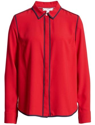 Tommy Hilfiger button-up shirt | 40plusstyle.com