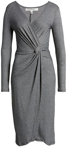 Row A rib midi dress | 40pusstyle.com