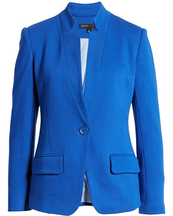 Gibson notch collar blazer | 40plusstyle.com