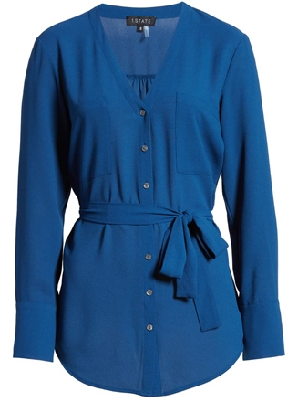 1.State partch pocket belted shirt | 40plusstyle.com