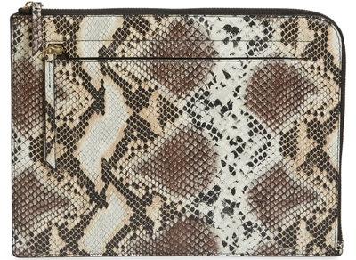 Nordstrom zip top leather pouch | 40plusstyle.com