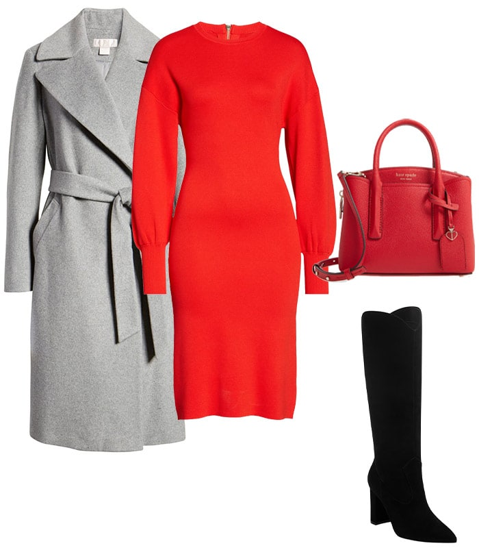 Sweaters for women: sweater dress outfits | 40plusstyle.com