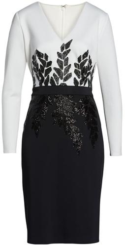 Tadashi Shoji beaded dress | 40pusstyle.com