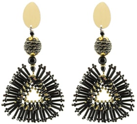 Panacea beaded triangle earrings | 40plusstyle.com