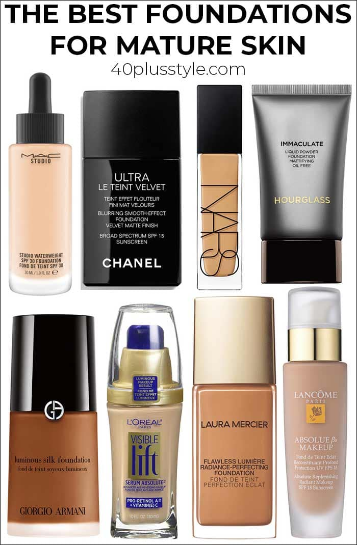 The best foundation for mature skin   40plusstyle.com