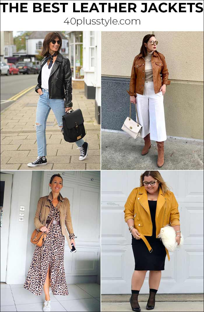 The best leather jackets for women that you will wear with everything   40plusstyle.com