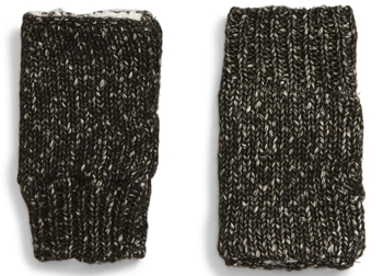 Treasure & Bond fleece lined fingerless gloves | 40plusstyle.com