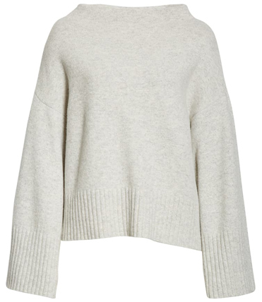 Club Monaco bell sleeve wool blend sweater | 40plusstyle.com