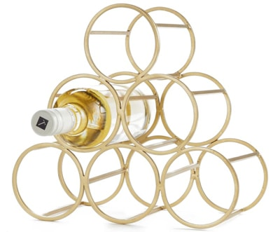 Christmas gift ideas for the home: Nordstrom at Home wine rack   40plusstyle.com