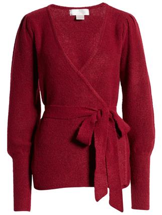 Rachel Parcell wrap cardigan | 40plusstyle.com