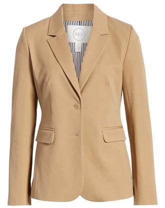 1901 stretch cotton twill blazer | 40plusstyle.com