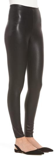 Commando perfect control faux leather leggings   40plusstyle.com
