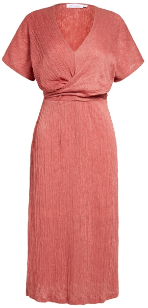 All in Favor v-neck midi dress | 40plusstyle.com