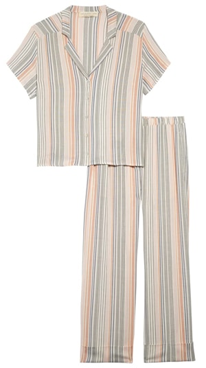 best pajamas for women: Saltwater Luxe crop pajamas | 40plusstyle.com