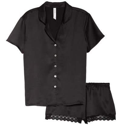 Flora Nikrooz satin short pajamas | 40plusstyle.com