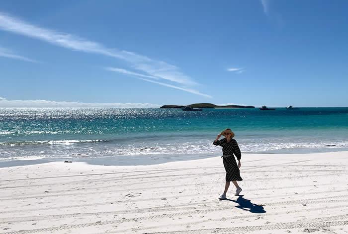Feeling good on a beach in Perth