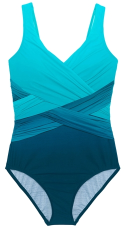 Lands' End tummy control one-piece swimsuit | 40plusstyle.com