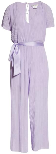 Alice + Olivia tie waist jumpsuit | 40plusstyle.com