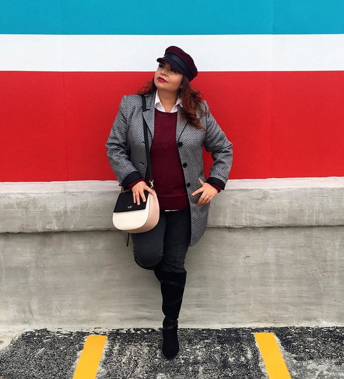 Wearing a baker boy style hat for women over 40 | 40plusstyle.com