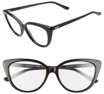 Michael Kors 54mm Cat Eye Optical Glasses | 40plusstyle.com