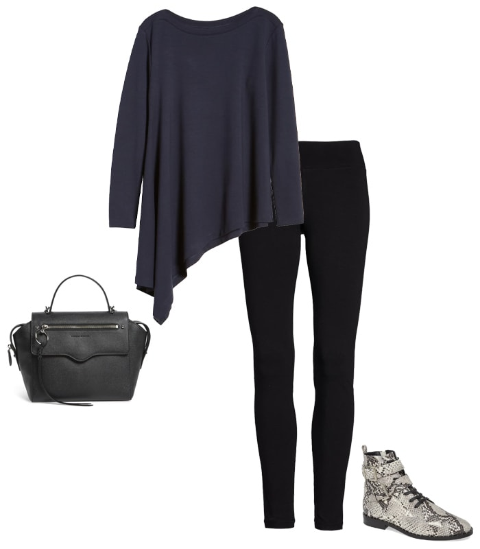 A tunic with leggings | 40plusstyle.com