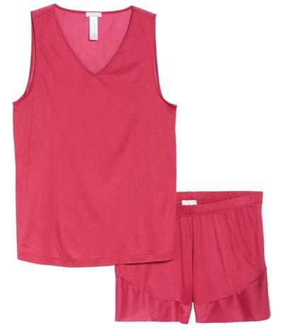 best pajamas for women: Hanro short pajamas | 40plusstyle.com