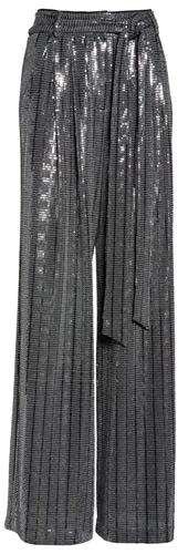 Eliza J wide leg sequin pants | 40plusstyle.com