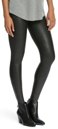 SPANX faux leather leggings | 40plusstyle.com