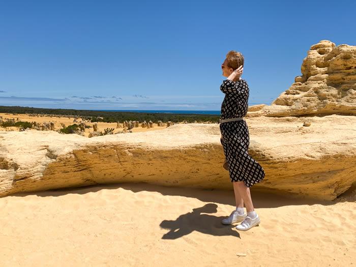 Feeling good in a Zara dress in Perth, Australia