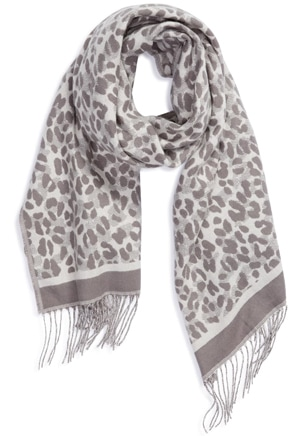 Ted Baker London leopard scarf | 40plusstyle.com