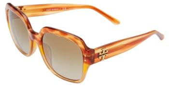 Tory Burch 56mm round sunglasses | 40plusstyle.com
