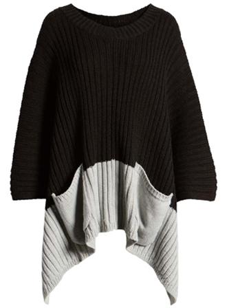Treasure & Bond rib knit poncho | 40plusstyle.com