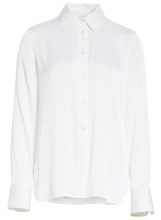 Vince slim silk blouse | 40plusstyle.com