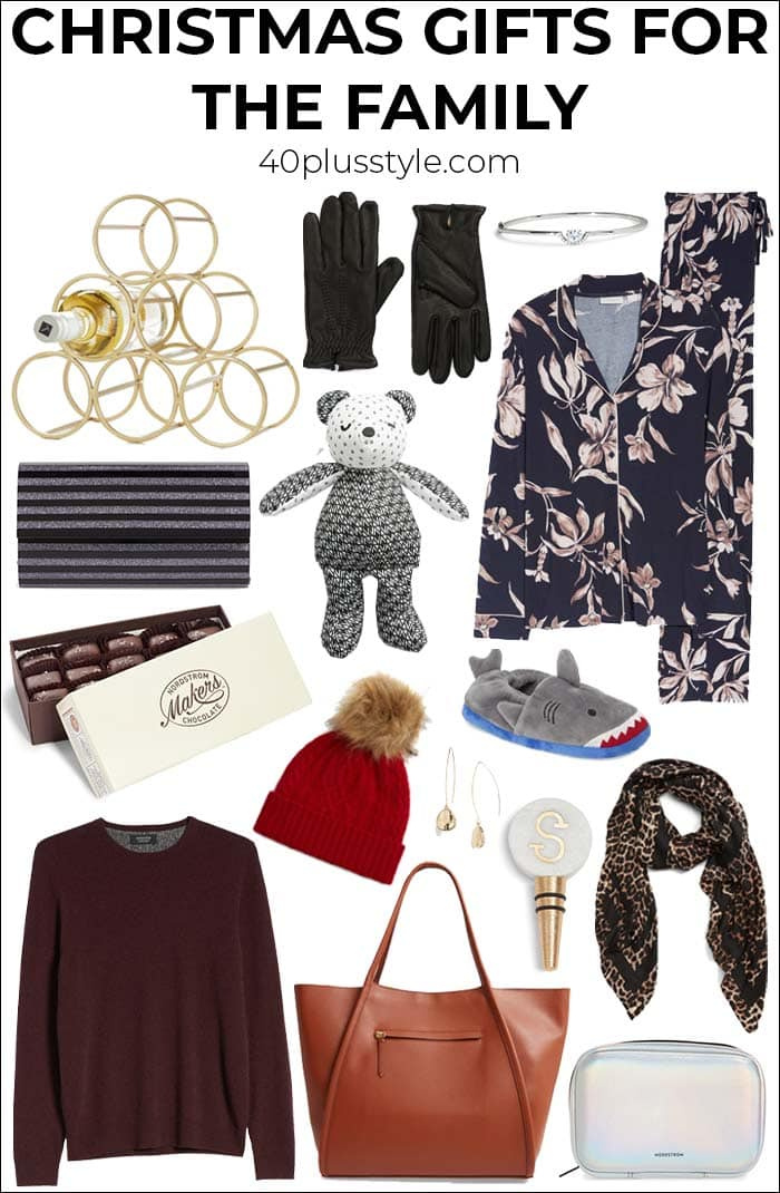 Christmas gift ideas for your whole family | 40plusstyle.com