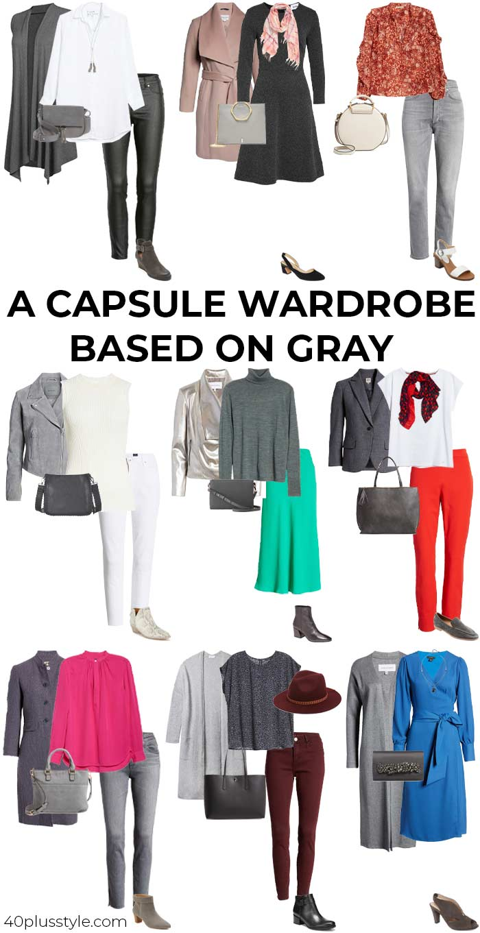 A capsule wardrobe on how to wear gray   40plusstyle.com