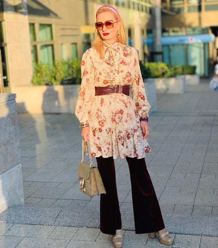 wear a shirtdress over wide-leg pants | 40plusstyle.com