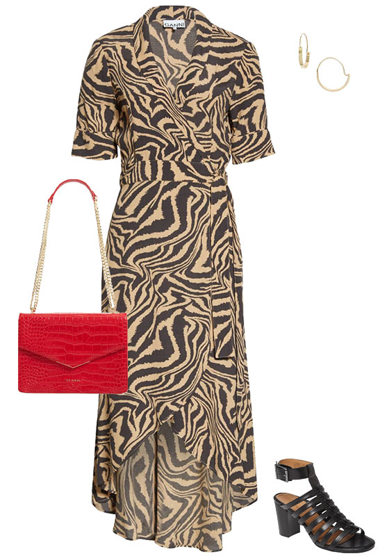 a beige and black dress | 40plusstyle.com