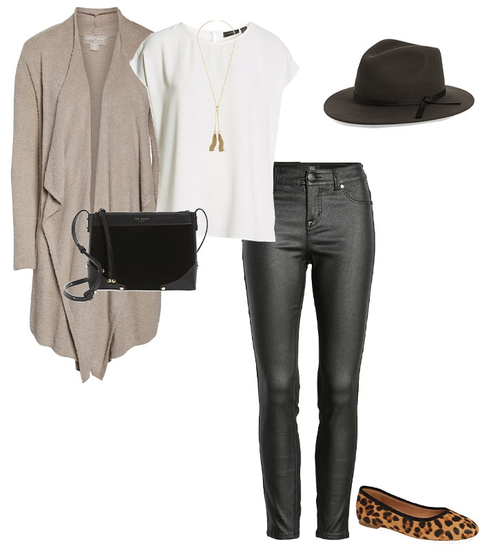 wearing beige with black | 40plusstyle.com