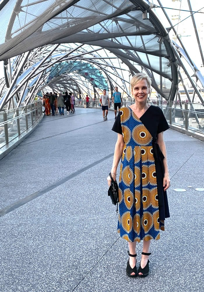 At the Millenium bridge in Singapore at the start of the new year - my best year ever!