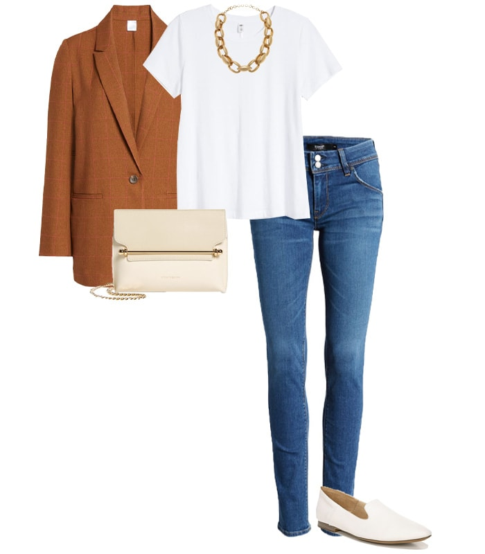 wearing jeans with a blazer | 40plusstyle.com