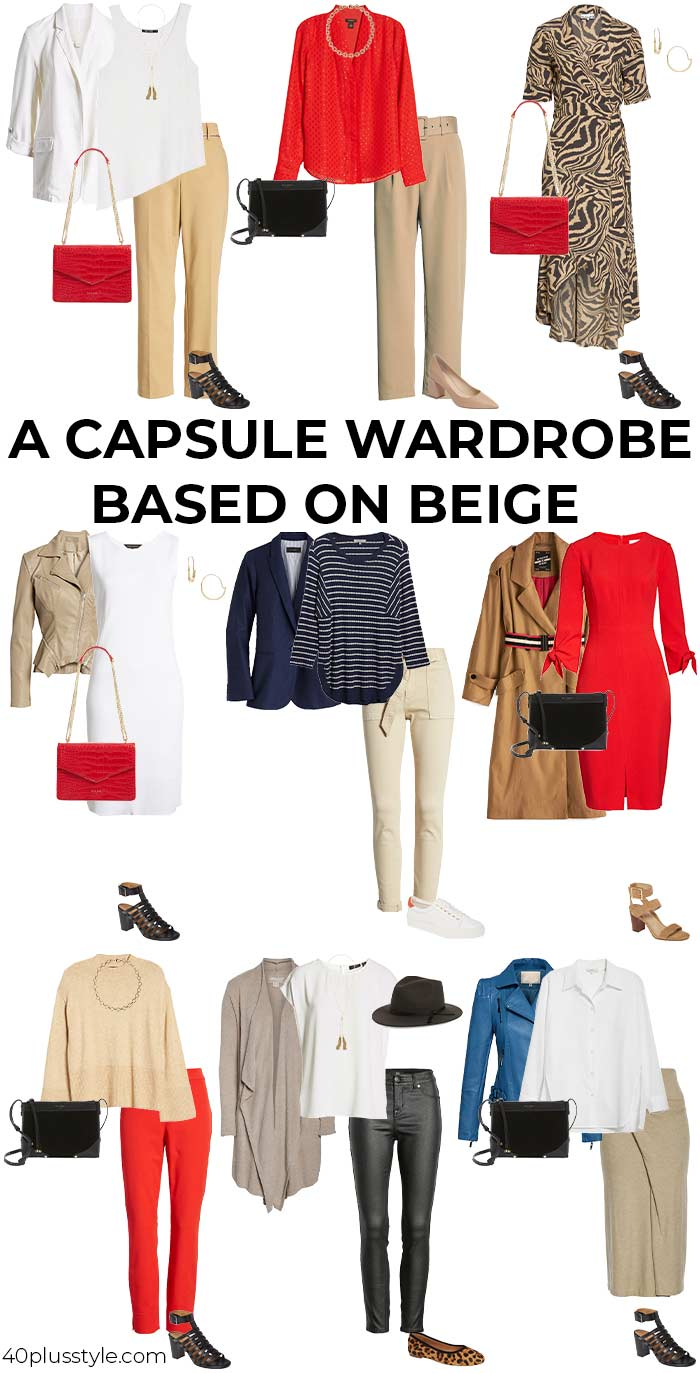A capsule wardrobe based on beige | 40plusstyle.com