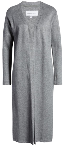 Cupcakes and Cashmere knit duster jacket | 40plusstyle.com