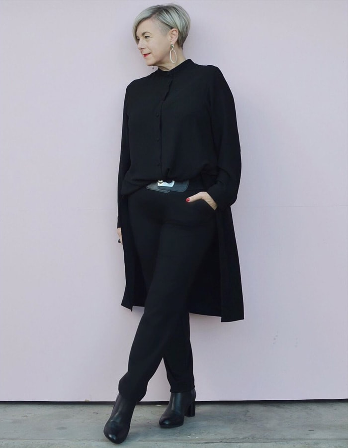 all black outfits for women over 40 | 40plusstyle.com