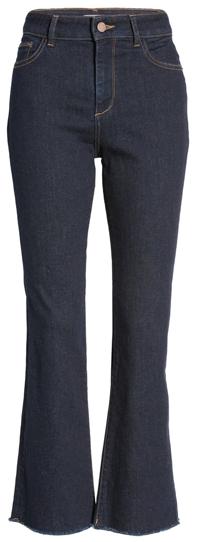 DL1961 crop bootcut jeans | 40plusstyle.com