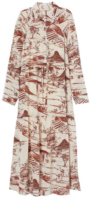 H&M silk shirtdress | 40plusstyle.com